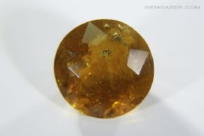 Tourmaline, var: Dravite, yellow faceted with Pyrite inclusions, Afghanistan.  5.99 carats.